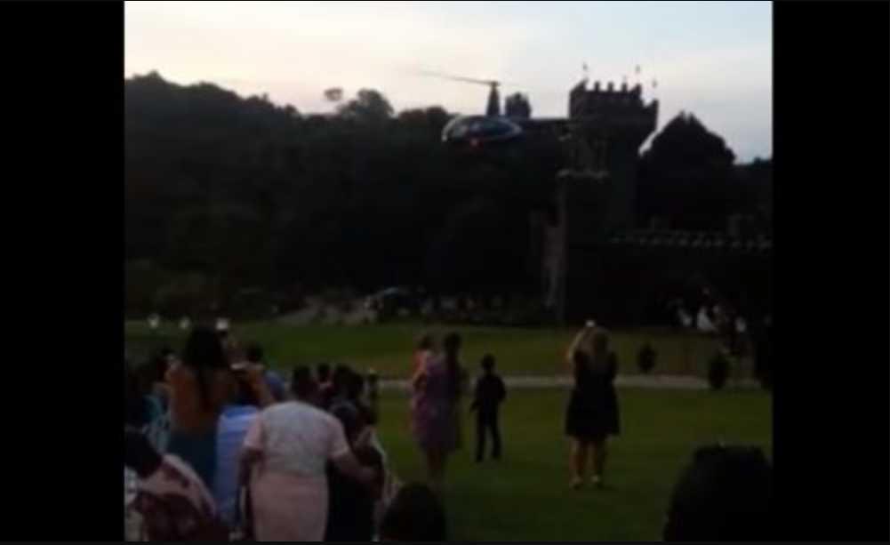 «Она летела на собственную церемонию»: Вертолет с невестой на борту упал и загорелся (видео)