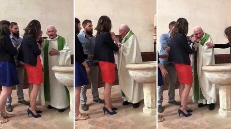 Священник жестоко ударил младенца прямо во время крещения: Сеть возмутило скандальное видео