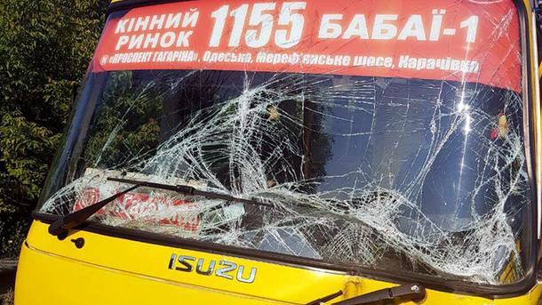 Под Харьковом маршрутка столкнулась с грузовиком. Есть пострадавшие