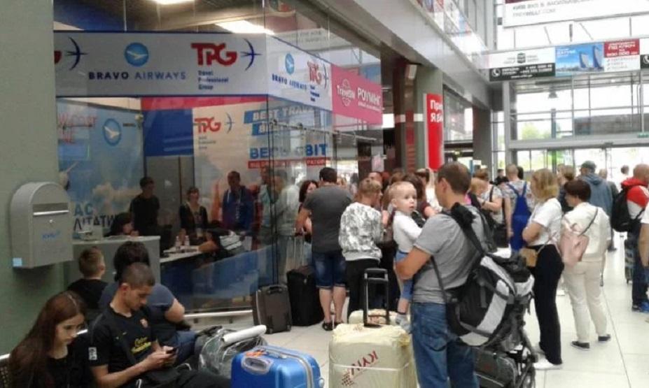 Коллапс в киевском аэропорту Сотни украинский стали «заложниками» авиакомпании