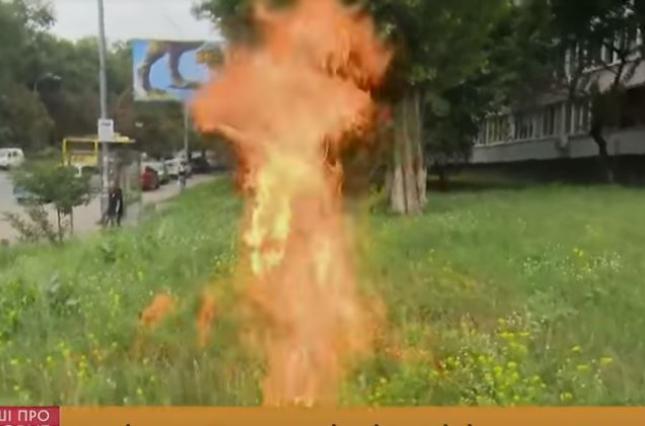 В знак протеста бывший военный поджег себя у Минобороны