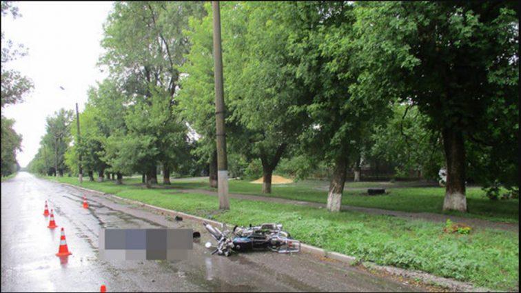 Смертельное ДТП в Запорожской области: мопед врезался в столб