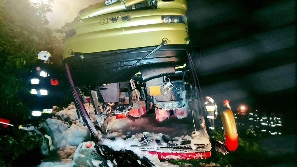 Срочно! В Польше автобус с украинцами на скорости слетел со склона. Есть жертвы
