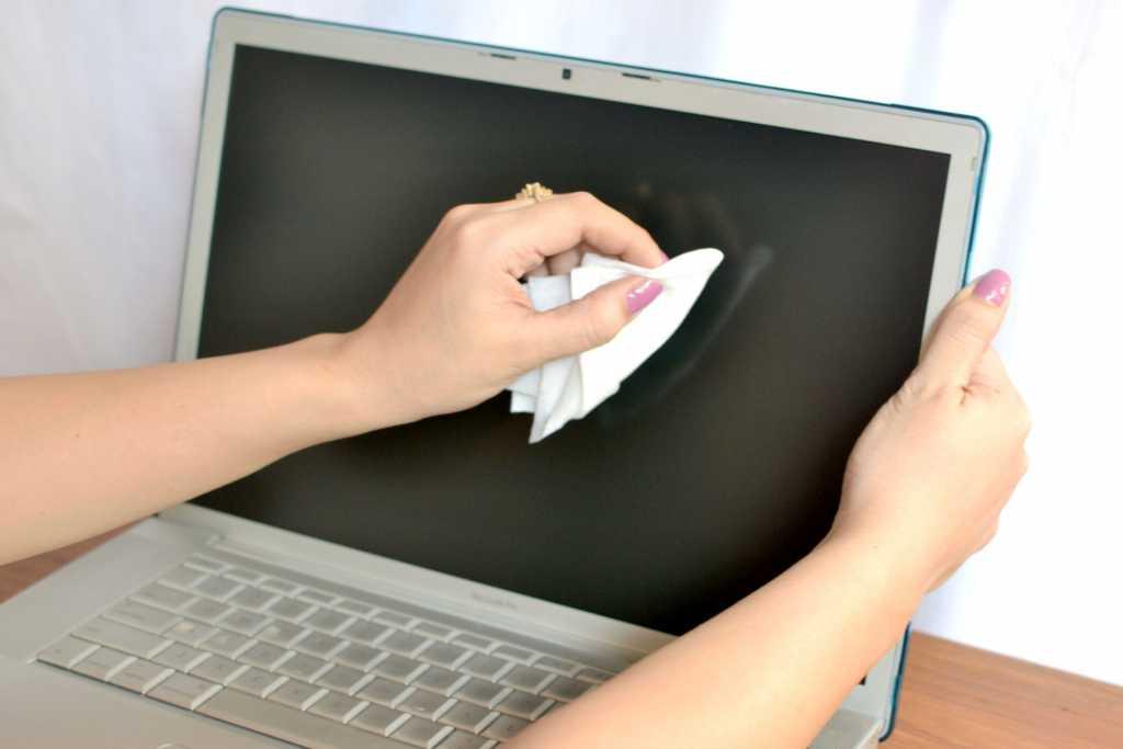 Чем чистить монитор ноутбука
