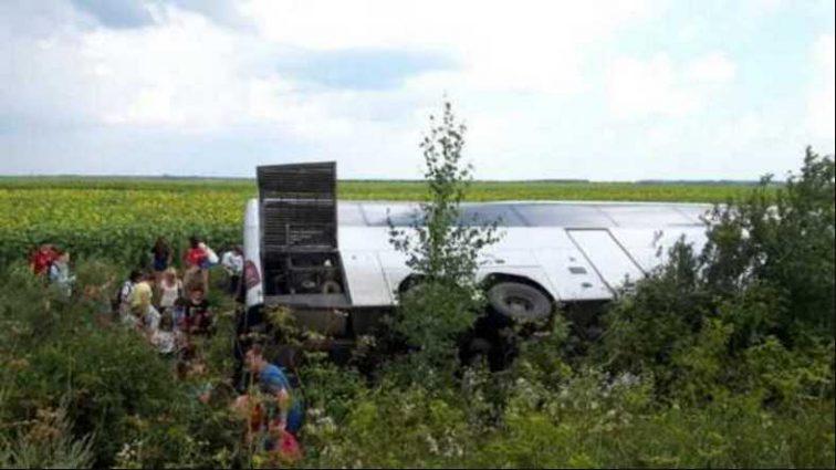 «Ехали на отдых»:В Волынской области перевернулся автобус с белорусскими туристами