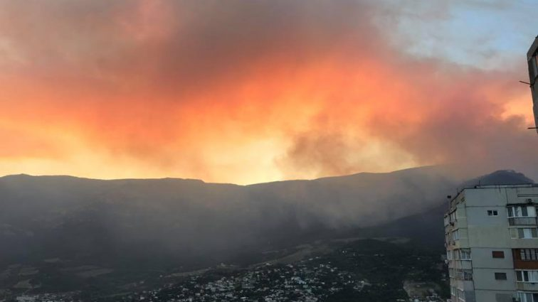 «Последний круг ада»: В Крымском лесу вспыхнул масштабный пожар