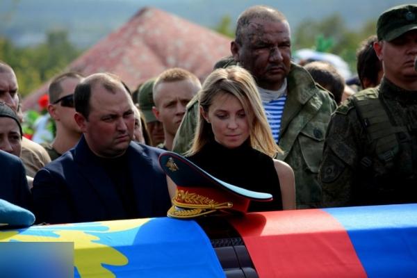 На похороны Захарченко пришла «черная вдова»
