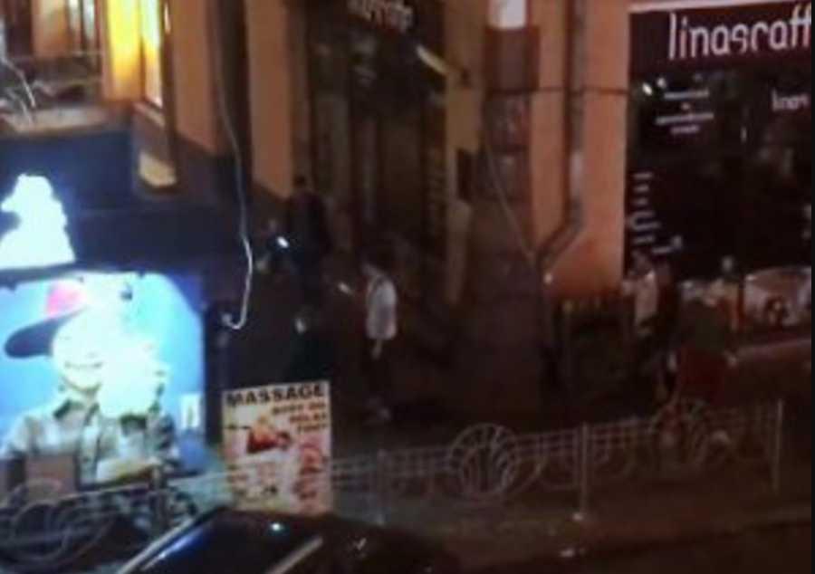 В центре Киева произошла массовая драка со стрельбой, инцидент попал на видео