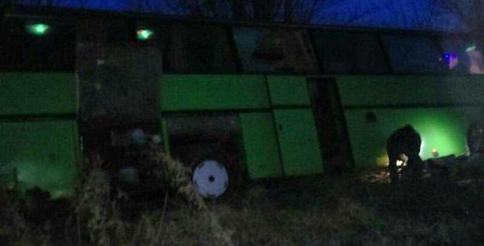 Жуткая ДТП под Кривым Рогом: Пассажирский автобус слетел в кювет