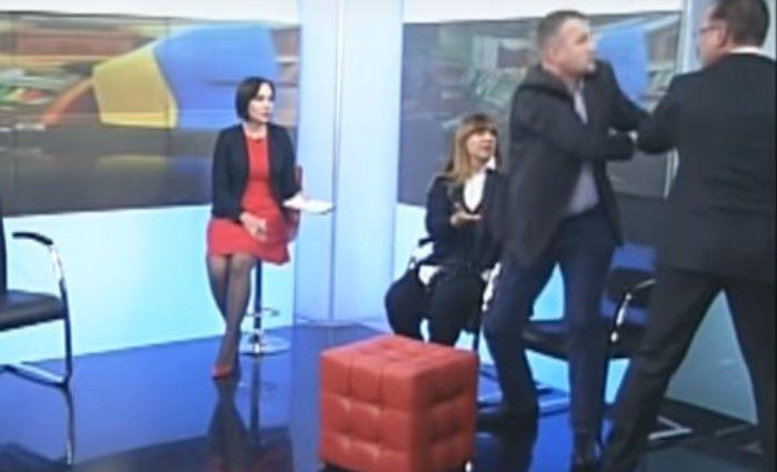 Скандал в прямом эфире: Одиозный депутат от БПП с кулаками набросился на представителя партии «Свобода»