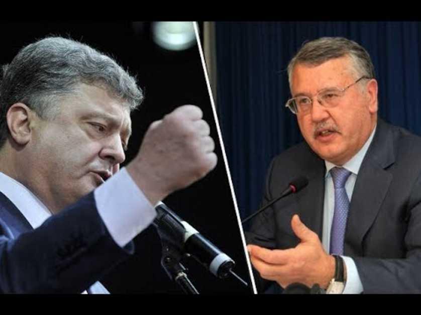 «Сплошная фальшь»: Гриценко раскритиковал слова Порошенко