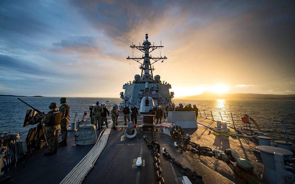 Операция «Атлантическое рвение»! Эсминец и оставшиеся из флота в боевой готовности в порту