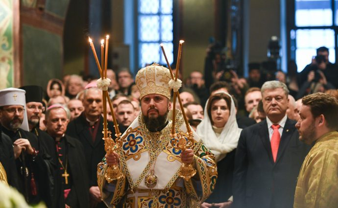 В Софии Киевской проходит интронизация предстоятеля ПЦУ Епифания