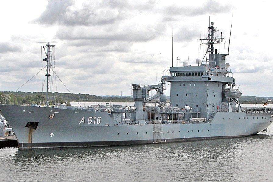 Не просто корабль, а плавучая база! Немецкое военное судно войдет в Черное море