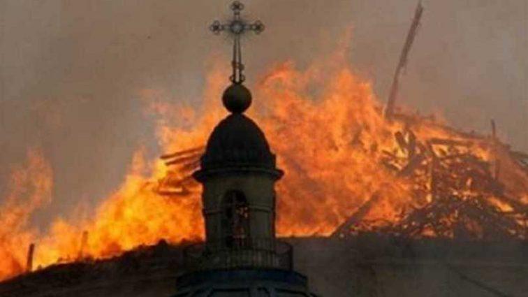 В Ивано-Франковской области произошел пожар на территории мужского монастыря ПЦУ, первые фото события