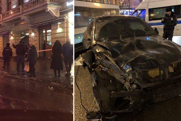 БМВ протаранил толпу на тротуаре: много погибших и раненых