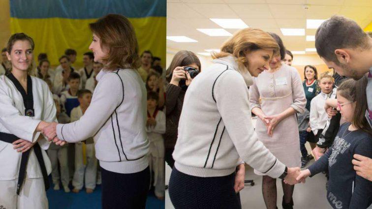 В свитере от Armani: Марина Порошенко ездила по Днепропетровской области в свитере с 54 000 гривен