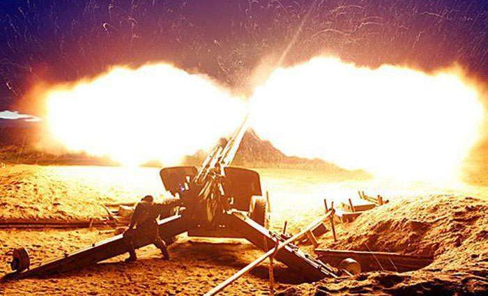 Боевики применяют тяжелое вооружение. Украинские военные также не молчали!