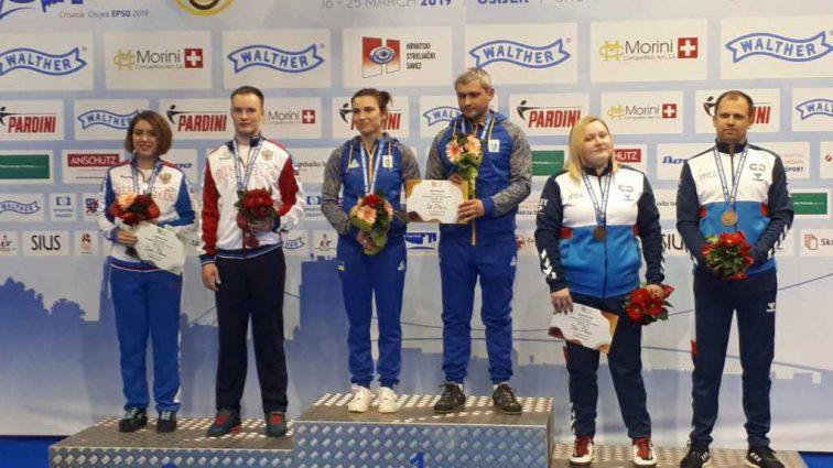Женская сборная Украины получила «серебро» Евро-2019 по пулевой стрельбе