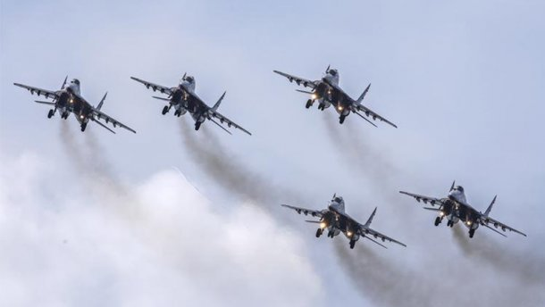 Более 50 самолетов поднято в небо! Российская авиация в небе Черного моря. Боевая тревога.