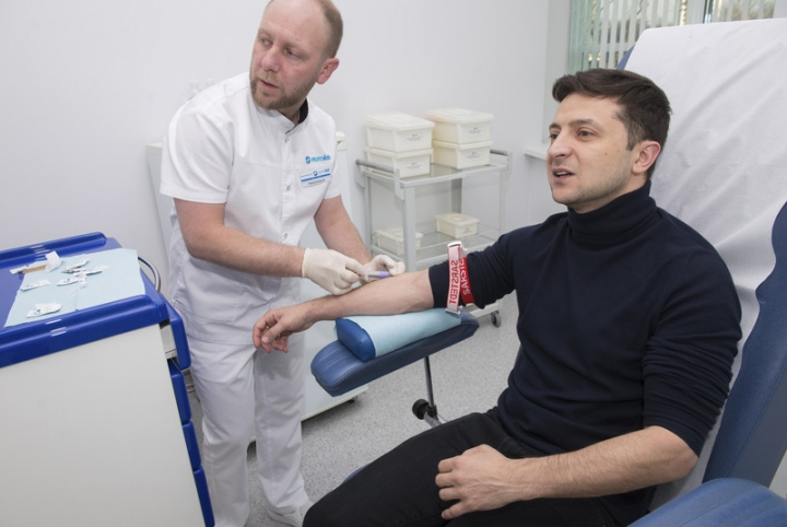 Владимир Зеленский обнародовал результаты анализов на наличие наркотиков