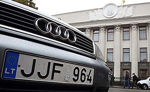 К 170 тысяч гривен штрафа за авто на «евробляхах»