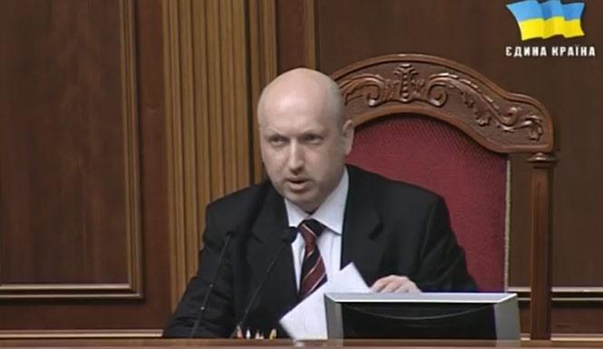 Секретарь Совета национальной безопасности и обороны Александр Турчинов подал заявление об отставке