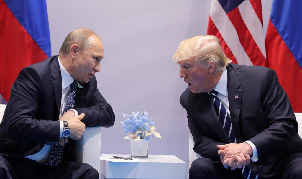 «Пожалуйста, не вмешивайтесь в выборы»: Трамп — Путину на саммите большой двадцатки