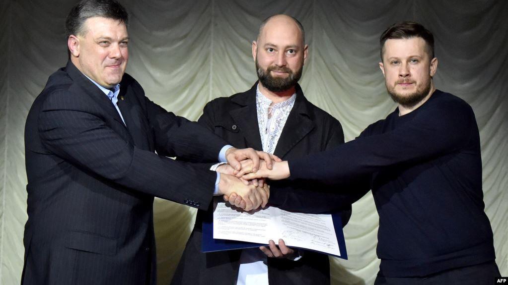 «Свобода», «Нацкорпус» и «Правый Сектор» идут на выборы вместе: кто попал в списки партии?