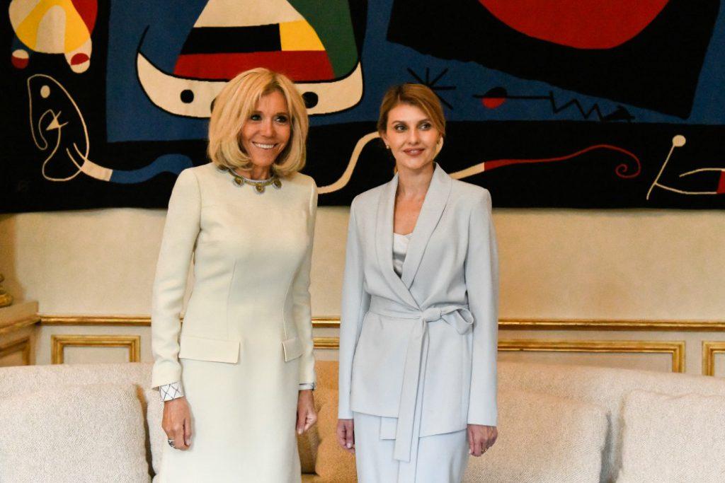 Встреча первых леди: О чем беседовали Елена Зеленская и Брижит Макрона?