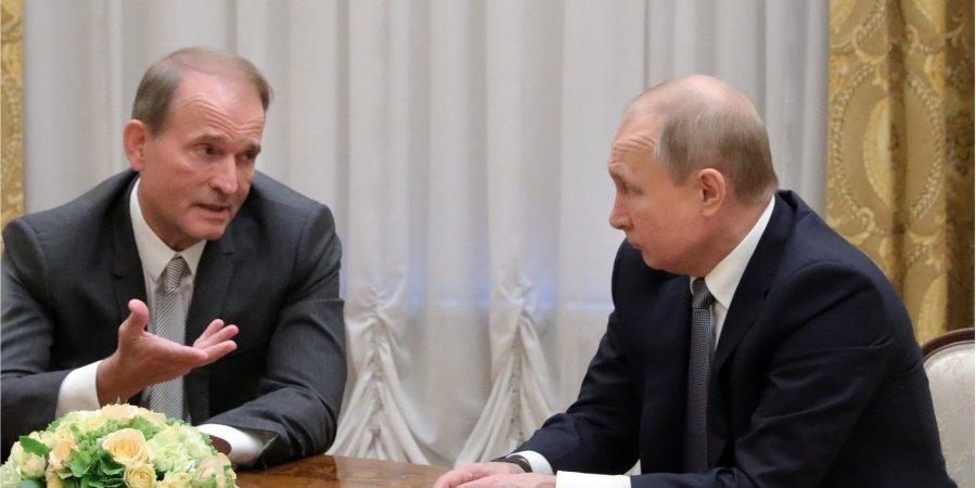 Путин встретился с Медведчуком накануне выборов в Раду: о чем говорили знаменитые кумовья?