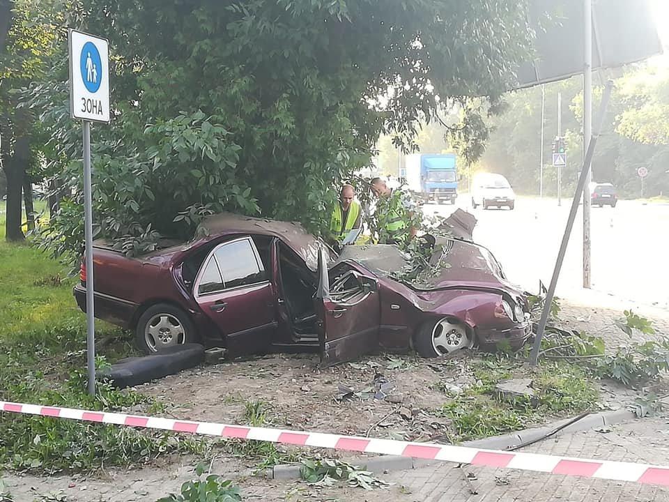 «Сбил электроопору и въехала в дерево»: Во Львове молодая девушка трагически погибла в результате страшного ДТП
