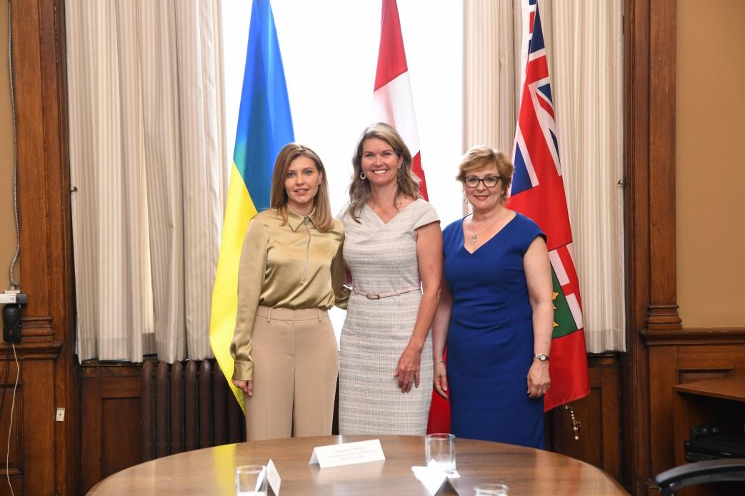 Елена Зеленская встретилась с Министром по делам детей и женщин в Канаде и посетила госпиталь SickKids