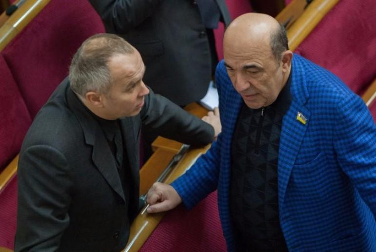 Сначало телемост с Россией, теперь митинг в свою защиту: Рабинович и Шуфрич вышли под офис президента