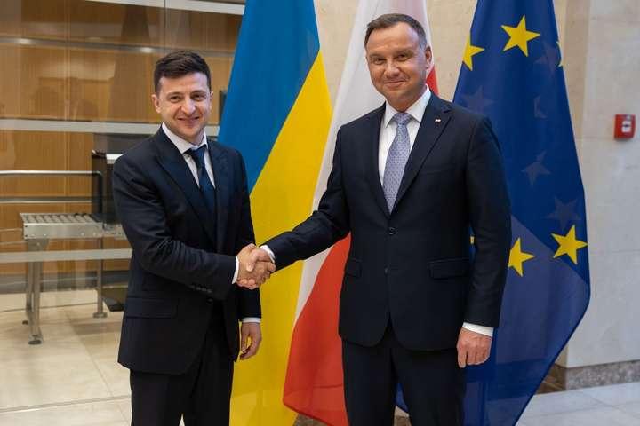 Историческое событие: В Варшаве началась встреча Зеленского и президента Польши Дуды