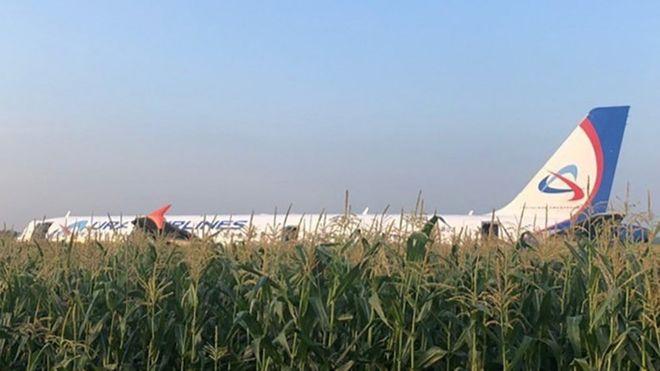 На борту находилось 234 человека: У самолета, который летел в Крым из РФ, во время полета загорелся двигатель