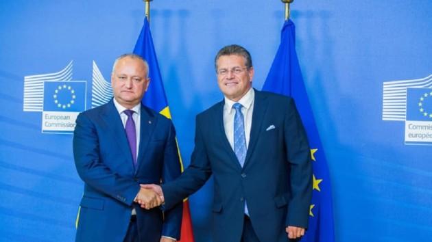 Транзит газа через Украину: как прошла встреча президента Молдовы с Шефчовичем, о чем говорили?