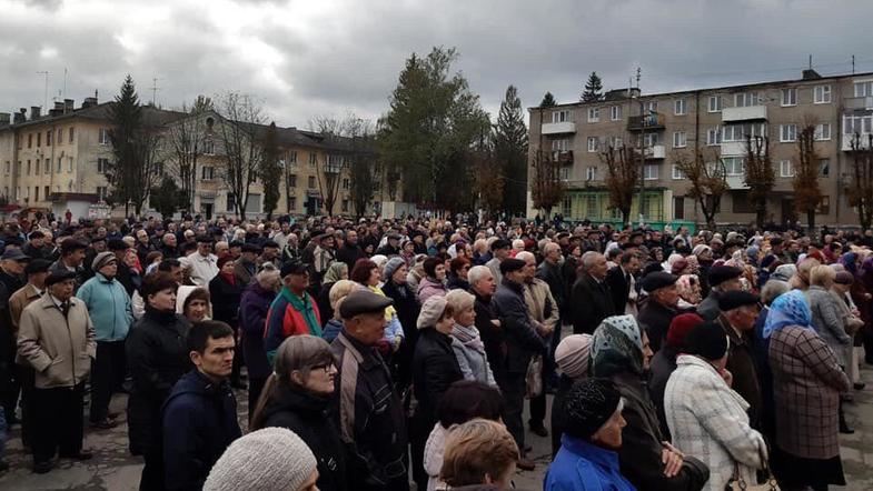 Масштабный митинг в Львовской области. Против чего протестуют люди