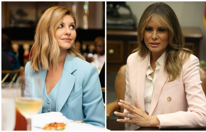 Во всем виноваты стилисты: неудачные образы Елены Зеленской и Мелании Трамп. Первым Леди так не к лицу