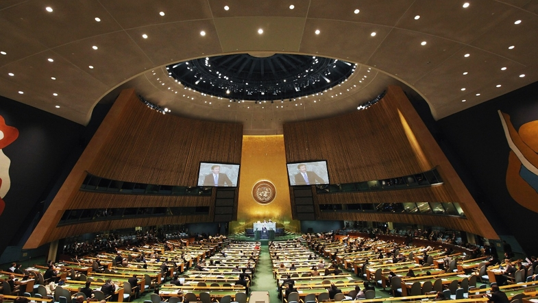 «Стучать табличками, а после направили протест»: Украинская делегация сорвала выступление «представителя Крыма» в ООН