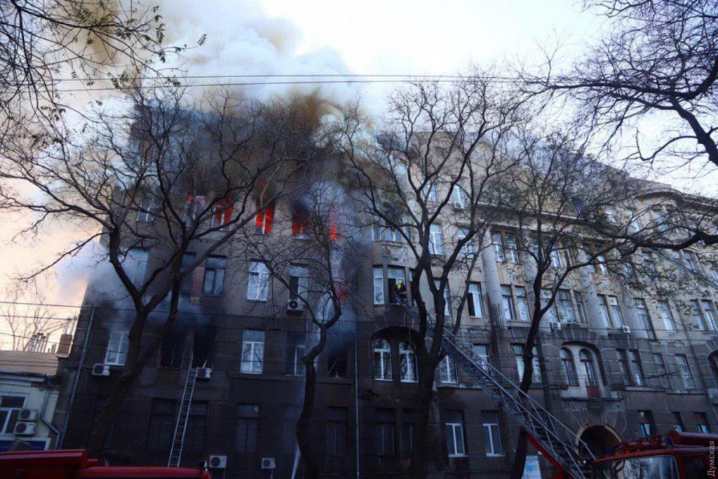«Возгорание произошло в …» : Эксперты установили, где возник пожар в Одесском колледже