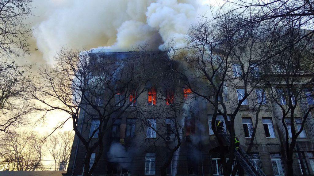 Достали второй труп: Новые подробности пожара в Одесском колледже. «Нашли под обломками …»