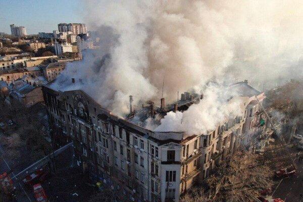 Чрезвычайная ситуация в регионе: Пожару в колледже Одессы предоставили новый статус