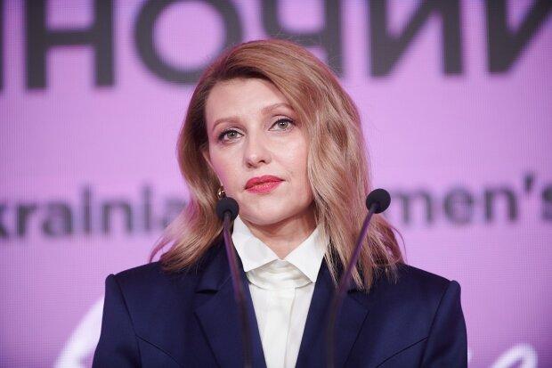 В синем «мужском» костюме»: Первая леди Украины снова покорила всех своим непревзойденным стилем. Ей очень идет!