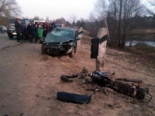 Кровавое ДТП:  Пьяный водитель насмерть сбил юного мотоциклиста. Ехал с другом
