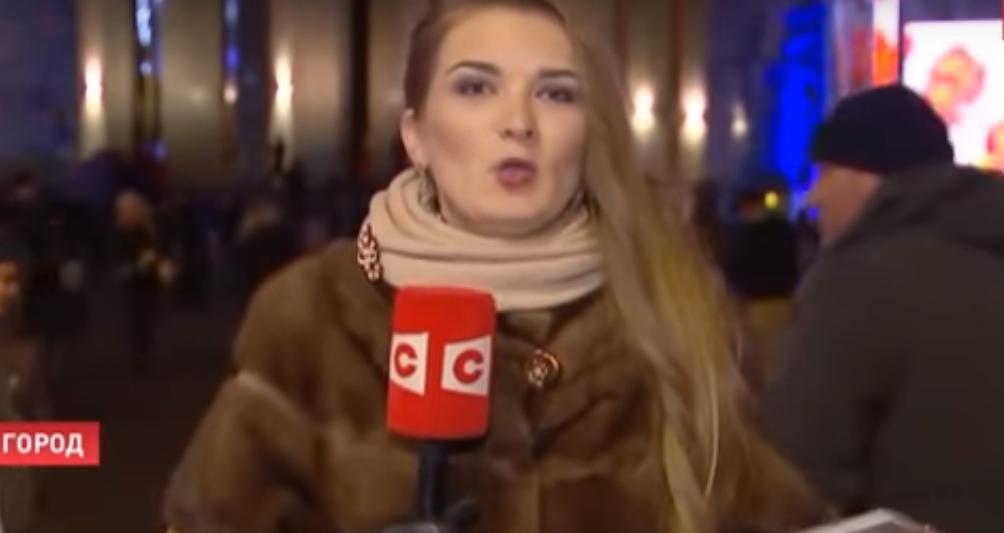Открытие «гавналыжних трасс»! Нетрезвая журналистка сорвала прямой эфир. Видео просто возмущает!