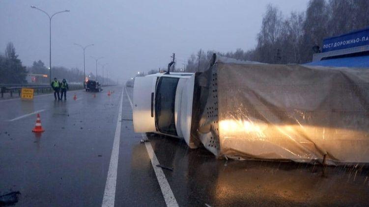 «Перекинулось и влетело в пост.» Масштабное ДТП всколыхнуло украинцев. Много пострадавшых