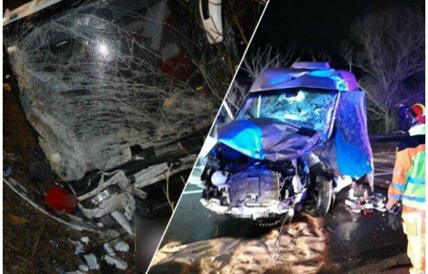 «Умерли на месте»: Жуткая авария в Словакии унесла жизни украинцев. «Авто слетело с дороги в 8-метровый овраг»