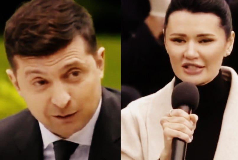 «Слушать вас трудно!»: Зеленский «поскандалил» с дерзкой журналисткой. «Держит удар». При Порошенко такого не было!