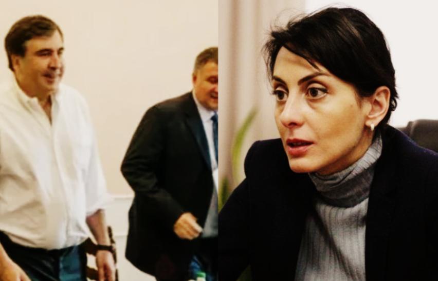 Она срочно прилетела — это его конец! Саакашвили аплодирует, не оставит им шансов